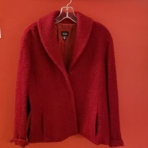 Eileen Fisher red jacket with pockets. Size Large